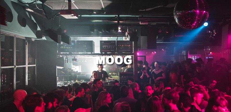 Moog - Your techno experience in Barcelona.