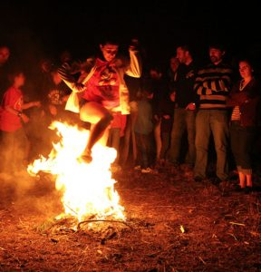 Traditional bonfires. Nowadays you can see this rarely