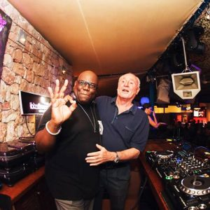 Carl Cox with Pepe Rosello - the owner